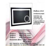 Дзеркало з LED підсвічуванням під замовлення МОДЕЛЬ-014 Алюм-Profi (Україна)