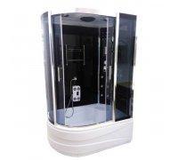 Гидромассажный бокс ATLANTIS AKL-1315 (R-правый) стекла в цвете графит (130*85*218)