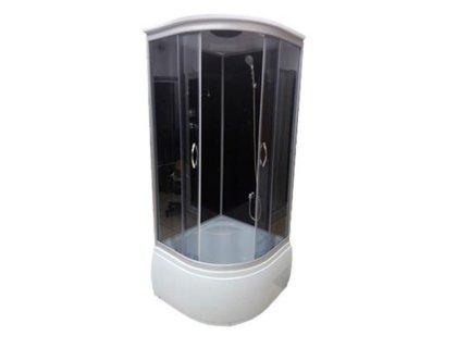 Душевой бокс ATLANTIS AKL-1325P ECO (GR-стекла-графит) 80*80*215