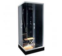 Гидромассажная душевая кабина OCEAN K9-Fashion Low Square Black (стекла-графит) 90*90*215