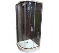 Душевая кабина с угловым низким поддоном KN-3-100 PREMIUM прозрачное стекло 100x100x195