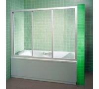 Душова шторка на ванну розсувна 3-х секційна полистирол Алюм-Profi APF-10-P шириною 100см