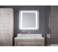 Зеркало прямоугольное закруглённое с LED подсветкой ODEO в размере под заказ
