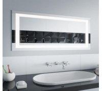 Зеркало прямоугольное с LED подсветкой QUADRO в размере под заказ