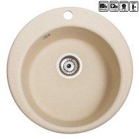 Кухонна мийка гранітна кругла Galati Eva Avena (501)