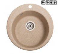 Кухонная гранитная круглая мойка Galati Eva Piesok (301)