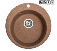 Кухонна мийка гранітна кругла Galati Eva Teracota (701)