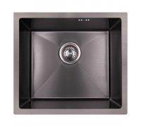 Кухонная мойка нержавейка в чёрном цвете толщиной 1мм IMPERIAL D4843BL Handmade 2.7/1.0mm