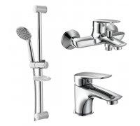 Набір змішувачів для ванни (3 в 1) (05030+10030+R670SD) PRAHA new Imprese (Чехія)