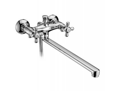 Cмеситель для ванны двухвентильный RALSKO new 35240NEW с изливом 35 см хром Imprese (Чехия)
