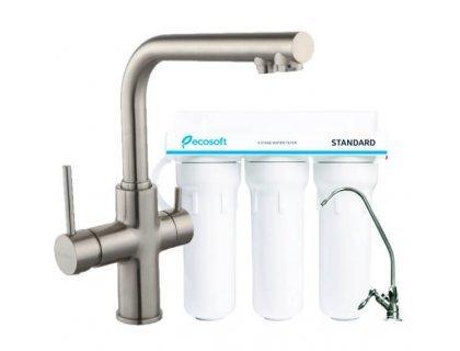 Cмеситель для кухни DAICY 55009-S-F сатин Imprese с фильтром Ecosoft Standart 3 ступени очистки