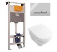 Комплект інсталяції 3в1 i9120 і унітазом О.NOVO з сидінням soft close IMPRESE+VILLEROY & BOCH