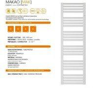Водяной полотенцесушитель Instal Projekt MAKAO Mak-60/190W белый 577 х 1851
