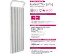 Водяной полотенцесушитель Instal Projekt MANHATTAN 40/120 белый 414*1205