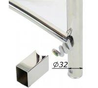 Комплект скрытого подключения для электро полотенцесушителя 30х40 под круглый стояк Ø32мм