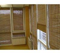 Бамбуковые римские шторы на балкон под заказ RSHRB-02 РОЛЕТЫ УКРАИНЫ