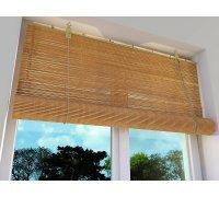 Бамбуковые рулонные шторы на окна под заказ RSHB-01 РОЛЕТЫ УКРАИНЫ