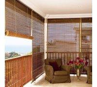 Бамбуковые рулонные шторы для террасы под заказ RSHB-06 РОЛЕТЫ УКРАИНЫ