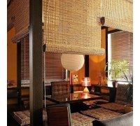 Бамбуковые рулонные шторы для веранды под заказ RSHB-04 РОЛЕТЫ УКРАИНЫ