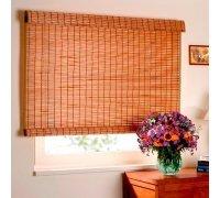 Бамбуковые рулонные шторы для спальни под заказ RSHB-08 РОЛЕТЫ УКРАИНЫ