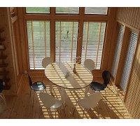 Горизонтальные деревянные жалюзи в столовую под заказ GDJ-6 РОЛЕТЫ УКРАИНЫ
