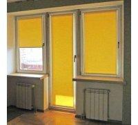 Рулонные шторы открытого типа для балконной двери под заказ RSHOT-4 РОЛЕТЫ УКРАИНЫ