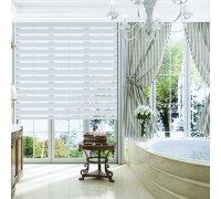Рулонные шторы ДЕНЬ-НОЧЬ для ванной комнаты под заказ RSHDN-05 РОЛЕТЫ УКРАИНЫ