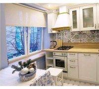 Рулонные шторы открытого типа для кухни под заказ RSHOT-9 РОЛЕТЫ УКРАИНЫ