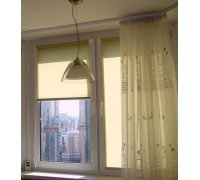 Рулонные шторы закрытого типа комбинированные под заказ RSHZT-15 РОЛЕТЫ УКРАИНЫ