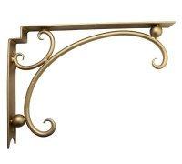 Комплект держателей для столешницы или умывальника SNAIL L в золотом цвете 390х270х40мм