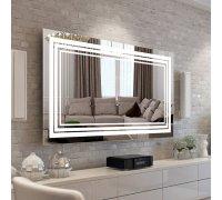 Зеркало с LED подсветкой LINE SNAIL (Ш*В) 106*80 см