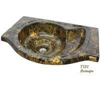 Умывальник из искусственного камня НАУТИЛУС SNAIL прямой 79*60*20 (цвет на выбор)