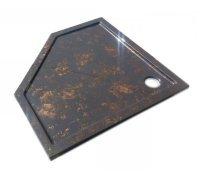 Душевой пятиугольный поддон из искусственного камня БЕЛЛА SNAIL 100x100 (цвет на выбор)