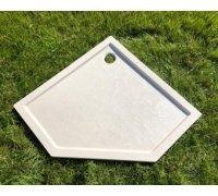 Душевой пятиугольный поддон из искусственного камня БЕЛЛА 132A333 SNAIL 90x90 цвет АРКТИК