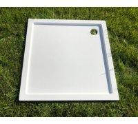 Душевой квадратный поддон из искусственного камня ЛАУРА 137A100М SNAIL 80x80 БЕЛЫЙ матовый
