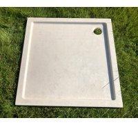 Душевой квадратный поддон из искусственного камня ЛАУРА 138H100 SNAIL 90x90 АРКТИК