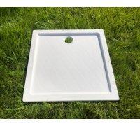 Душевой квадратный поддон из искусственного камня 131A100М ПАНДОРА SNAIL 90x90 БЕЛЫЙ матовый