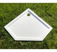 Душевой пятиугольный поддон из искусственного камня 129A100M ПРЕМЬЕР SNAIL 90x90 БЕЛЫЙ матовый