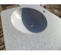 Столешница с встроенным овальным умывальником СТЕЛЛА 51*38*16 из искусственного камня SNAIL