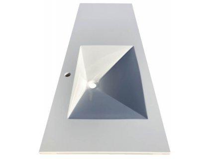 Столешница с ПРЯМОУГОЛЬНЫМ умывальником (57*39*10) из искусственного камня SNAIL