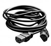 Соединительный электро кабель С13 (папа-папа) 4 метра (белый)