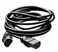 Соединительный электро кабель С13 (папа-папа) 2 метра (белый)