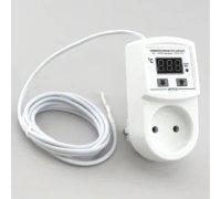 Розеточный регулятор температуры с внешним датчиком температуры ТР-01