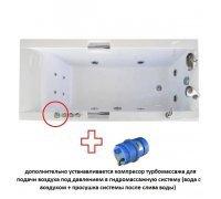Система ГИДРО-СПИННОГО-ТУРБО МАССАЖА для установки в ванную 0,9 кВт ТРИТОН