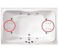 Система СПИННОГО МАССАЖА ТРИТОН двойной комплект для больших ванн