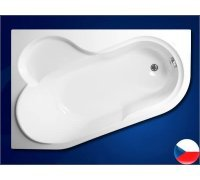 Ванна акриловая асимметричная 147*100 SELENA левая Vagnerplast