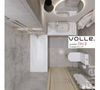 Комплект для ванной комнаты Volle ELLER-2 арт. 070071 -ванна, компакт, умывальник, смесители, душ гарнитур