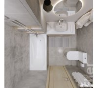Комплект для ванної кімнати Volle ELLER 070069-ванна, компакт, умивальник, змішувачі, душ гарнітур