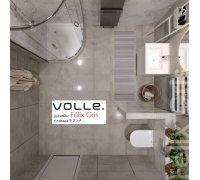 Комплект для ванной комнаты Volle 070080 FELIX GRIS-2 -душ. кабина, компакт, биде, тумба с раковиной, смесители, душ система
