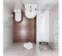Комплект для ванной комнаты Volle GRAN VIA 070068 -ванна, компакт, умывальник, смеситель, душ гарнитур